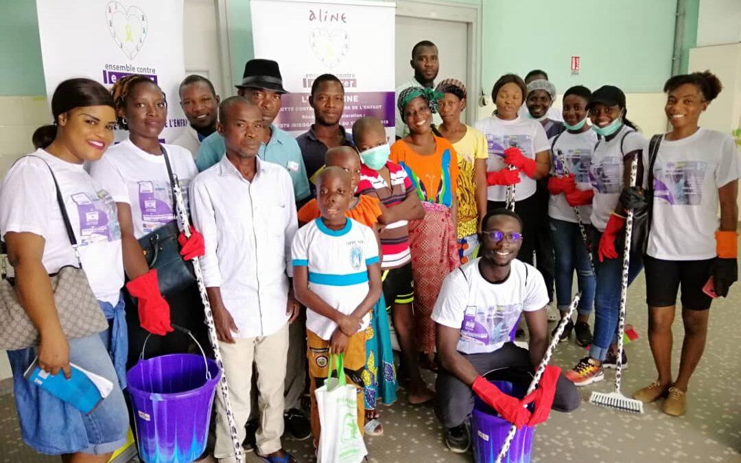 Activités de nettoyage des locaux du service d'oncologie pédiatrique du CHU de Treichville